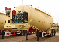 39000L Dry Bulk Pneumatic Tank Trailers with 3 axles for cement powder, Cement Tanker Semi Trailer