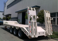 13m 3 Axles 60T Fixed Gooseneck ( FGN ) Low Bed Semi Trailer with 3 axles,Low bed Trailer