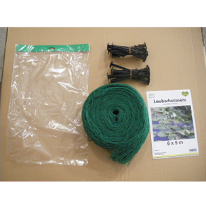 HDPE 18gsm green color pond net with peg, applied for pond, cover the pond,