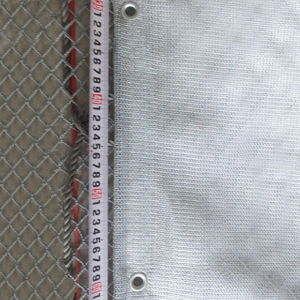 HDPE 140gsm grey color scaffold net