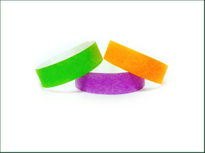 Stretch And Tear Resistant Disposable Paper Tyvek Wristbands
