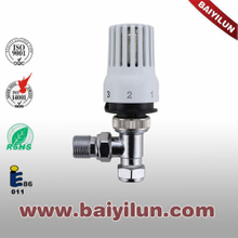 Thermostatic red copper pipe angle valve,radaitor thermostatic valve