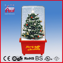 (16029B) Delicate Christmas Tree Colorful Decoration Snowing Box