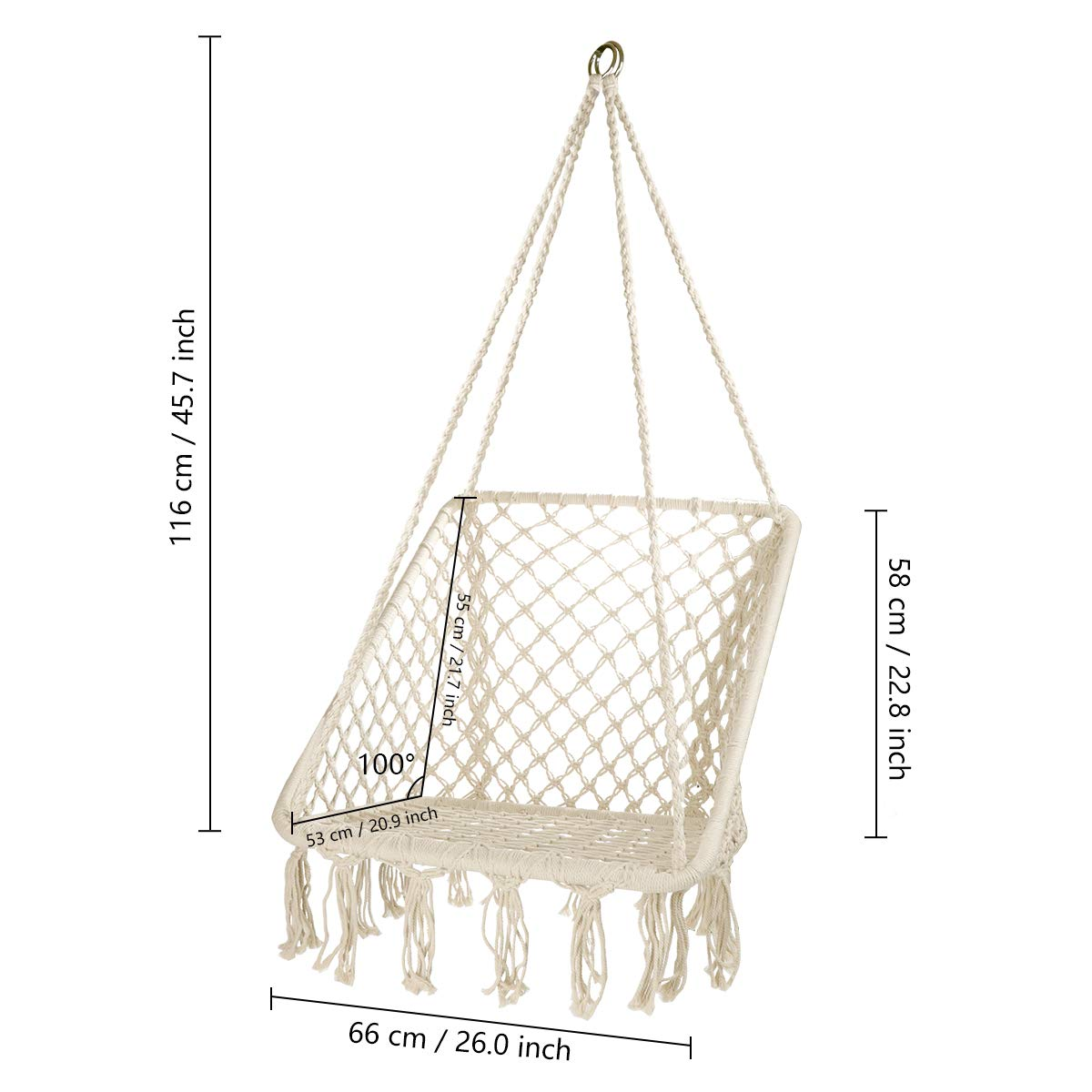 New Square Cotton Rope Swing Hanging Chair