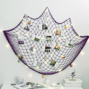 Polyester purple color 30gsm ornamental netting/decorative net