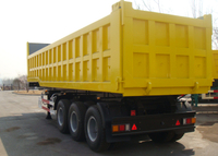 42 cbm Gooseneck Dump Semi Trailer with 3 BPW axles and hydraulic dumper for mine and construction material, Dump Semi Trailer,Tipper