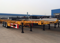 48 Feet Low Clearance Skeleton Semi-Trailer with 3 axles and gooseneck for organic chemical tanker container
