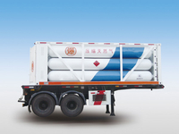 LH2 Tube Skid Semi-trailers with 12 Tubes And 2 Axles for 12000L,CNG Tube Skid Tanker