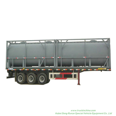 40FT ISOTank Container For Chemical Solution 35KL -44KL HCL , NaOH (max 50%), NaCLO (max 10%), H2SO4(60%,98%) ,HF