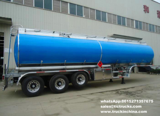 42M3 Aluminum fuel tank semi-trailer 3 axles BPW air suspension