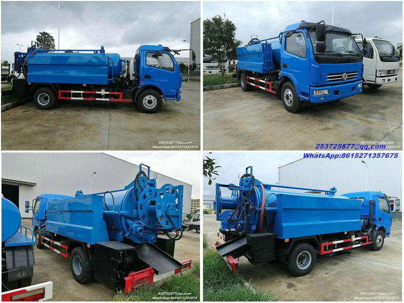 Eaux d'égout Trucks-5000liter.jpg de abattage hydraulique de Dongfeng