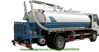 ISUZU Septic Emptier Vacuum Tanker Truck 10,000Litres Sewage with Water Bowser Multifunction