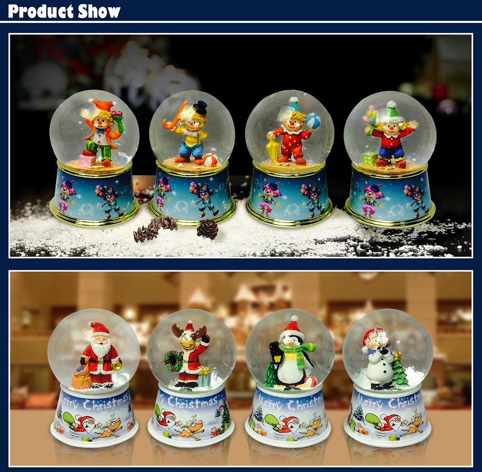 The Most Popular 100mm Christmas Snow Globe Water Globe Customized Snow Globe on Hot Sale