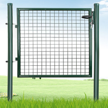 100x150cm Home garden galvanized welded fence panels with security lock for guard fence Decoration Euro Garden Door