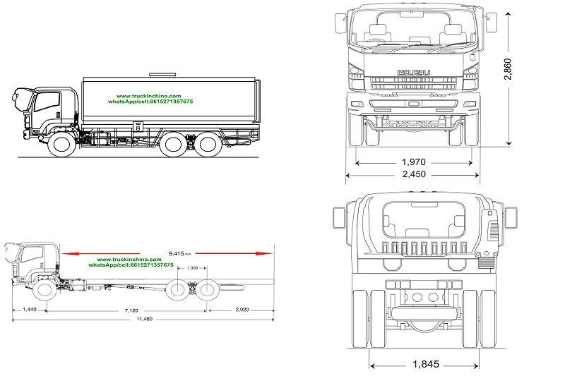 Attraction de véhicule de ravitaillement de l'alliage d'aluminium ISUZU d'ISUZU 22000L