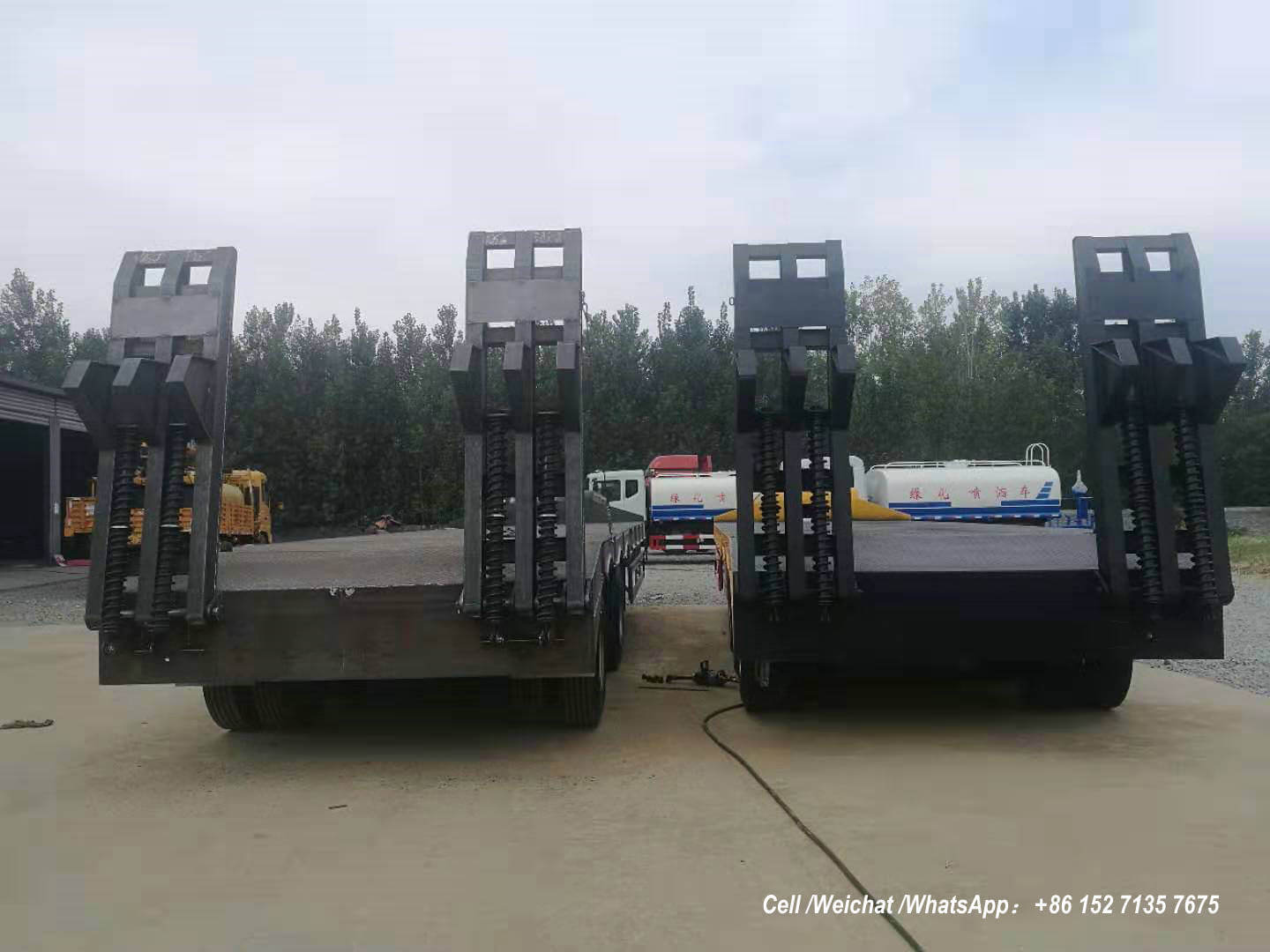 Low Bed Trailer 60 Tons BPW -02-Container truck