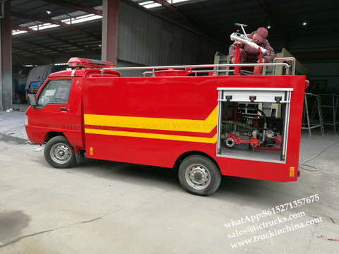 Portable pump fire fighting truck 1000L