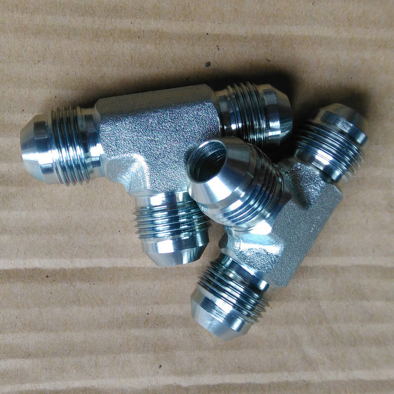 Stainless steel jic male tee hydraulic fitting adapter