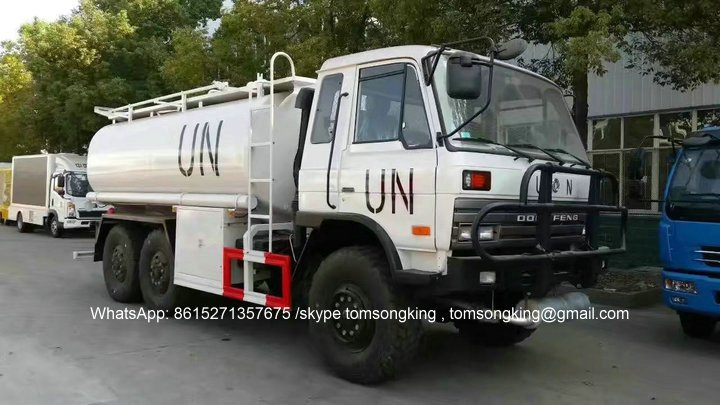 Dongfeng 6x6 All Wheel Drive Water Tanker Truck For UN