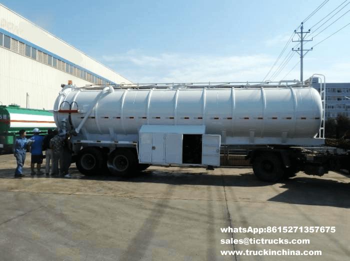 semi-remorque 2_1.png de réservoir d'aspiration d'eaux d'égout de 2 essieux