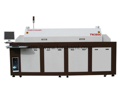 Full hot air lead-free reflow Oven with 8 heating-zones TN380C