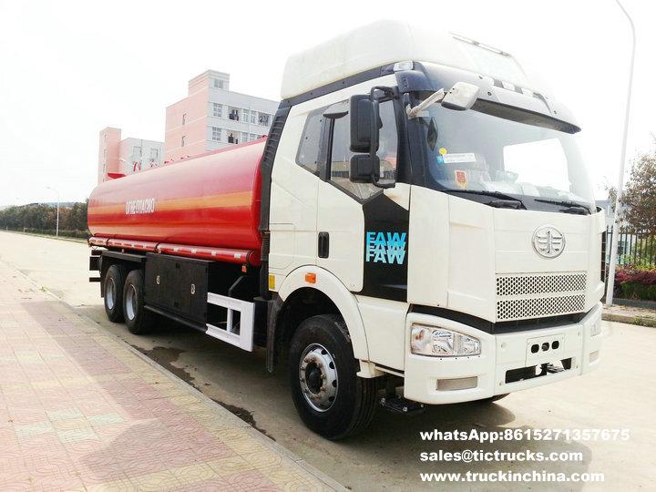 Véhicule de ravitaillement de FAW, camion-citerne, camions-citernes, la distribution tanker.jpg de pétrole