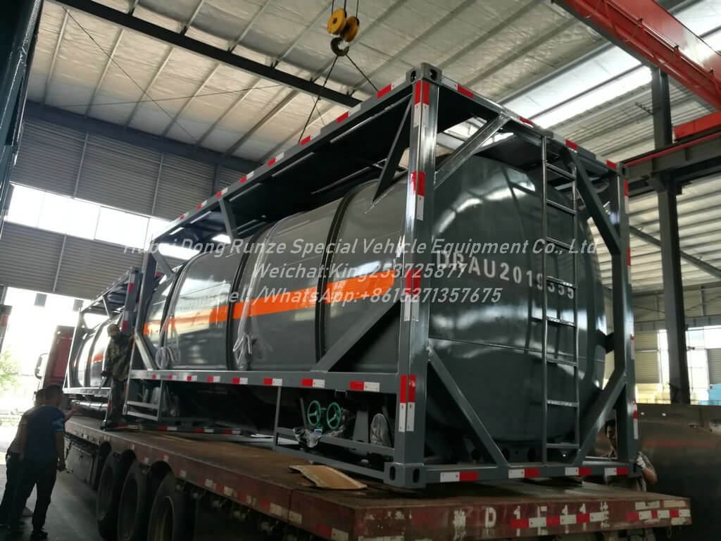Hydrochloric-Acid-ISO Tank-14KL- Container Lined LDPE