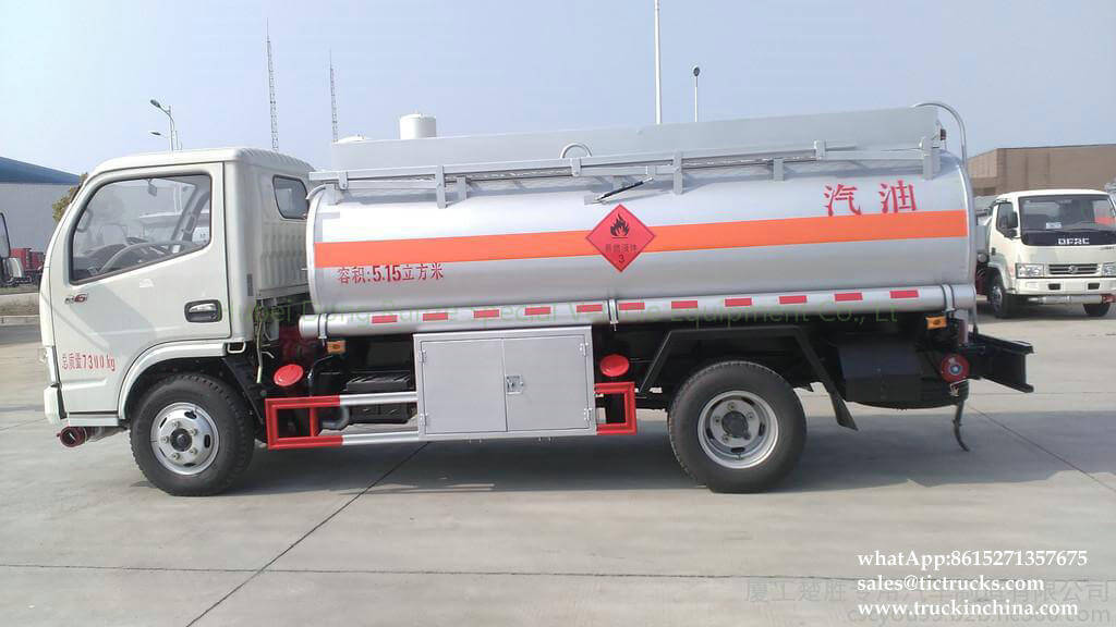4.8cbm-5.3cbm Diesel, Gasoline Fuel truck refueling truck export to ZAMBIA FOB price