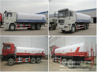 F2000 Shacman 10 wheels water Tanker Vehicle 20000L