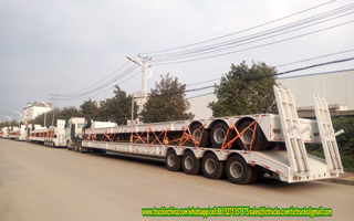 4 axle 100Ton low bed semi-trailer