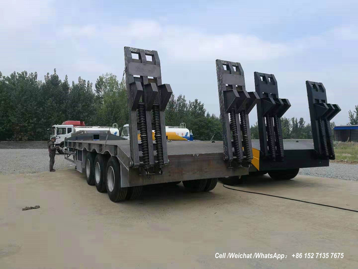 Low Bed Trailer 60 Tons BPW -00-Container truck