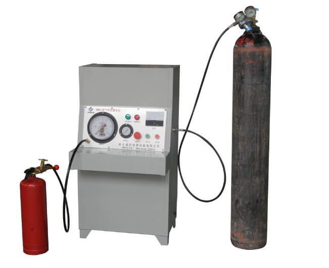 Extinguisher Nitrogen Filling Machine with Safe Protective Device Nitrogen Timing Machine