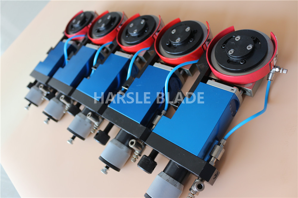 Pneumatic slitting core knife holders, heavyduty type paper Motoknife group, Pneumatic slitting core air knife