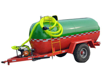 5000 Liters Small Water / Fule Tanker Stainless Steel Trailers