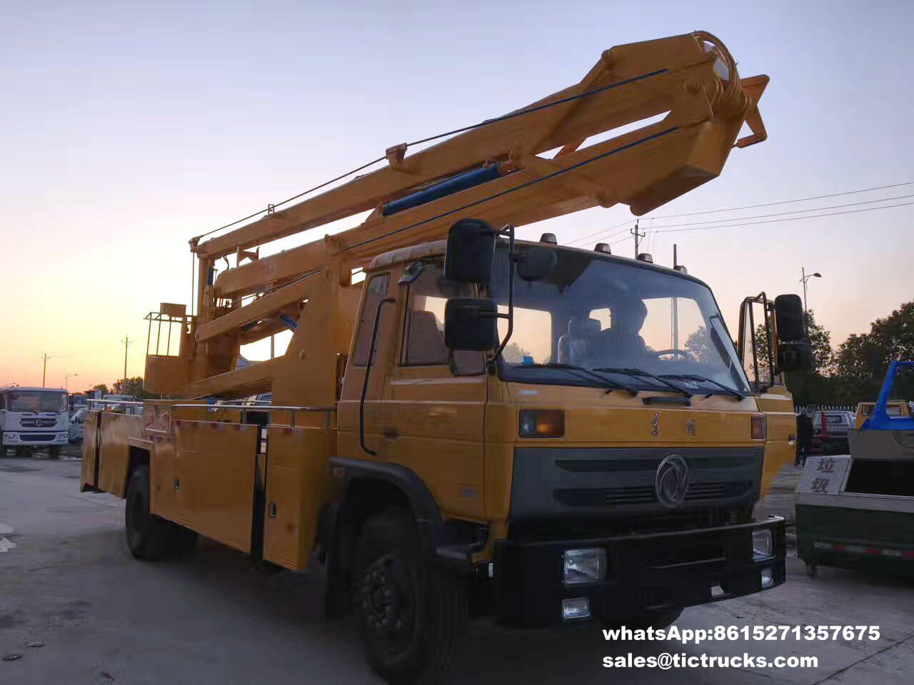 Dongfeng 24m aerial platform truck cheap for sale