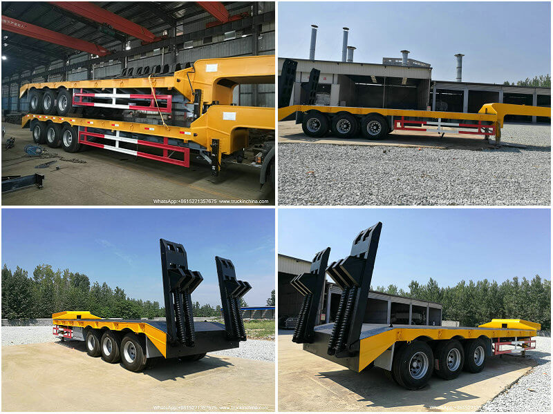 lowbed trailer-6 3 Axle Low Bed Semi Trailer