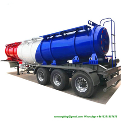 Sulphuric Acid Tanker Trailer V shape 22000L for Zambia,Tanzania