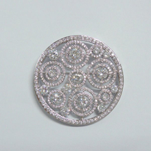 Circle Round Wedding Brooch