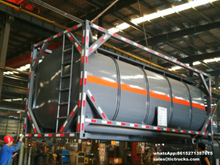 20ft Hydrochloric acid, Sodium hypochlorite Tank Containers with pipe bottom loading