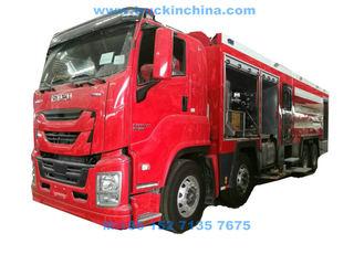 ISUZU Heavy Duty Dry Powder Foam Water Combination Fire Truck 460HP