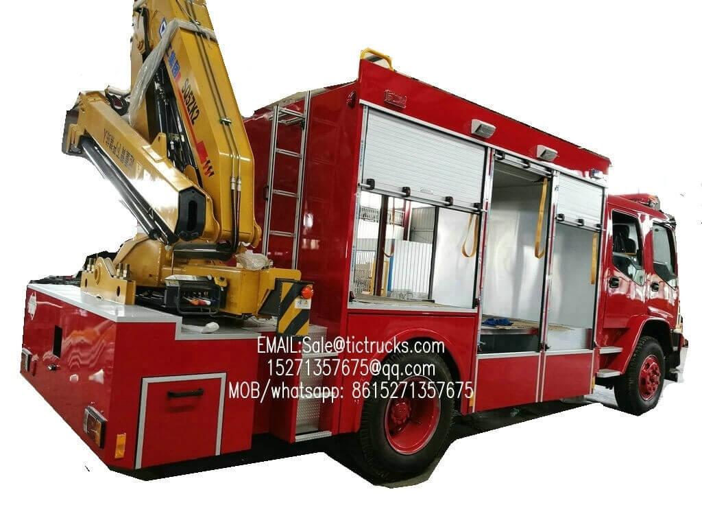 Camion de pompiers Emergency de la délivrance -5700L- d'ISUZU FVR avec canre.jpg