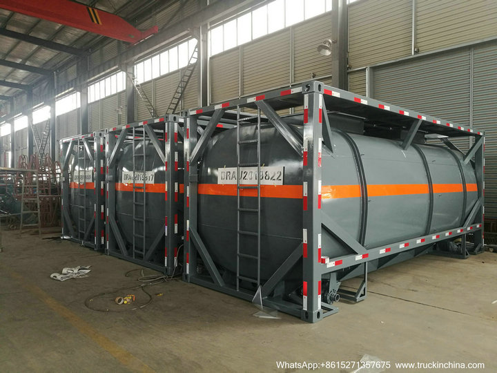 5 Units New 20FT ISOTANK For HCl Acid Chemical Liquid Export to HAIPHONG VIETNAM