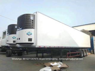 Refrigerated Trailers A Freezer Trailers Customizing 3 Axles With KINGTEC Freezer Unit