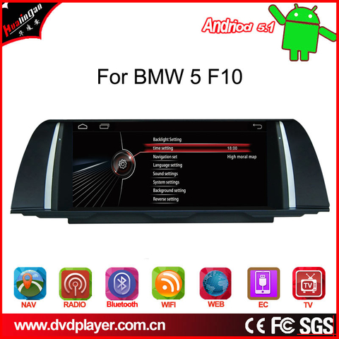 "10.25""android 4.4 car videos for bmw 5 F10 car stereo 3G Internet"