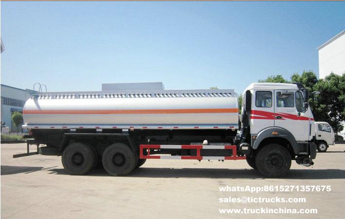 Beiben 2527 véhicules de distribution d'essence 6x4 22000L