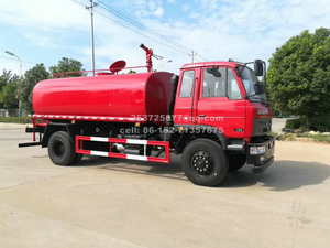 Dongfeng 4x4 AWD Off Road Water Tender Truck With Fire Monitor