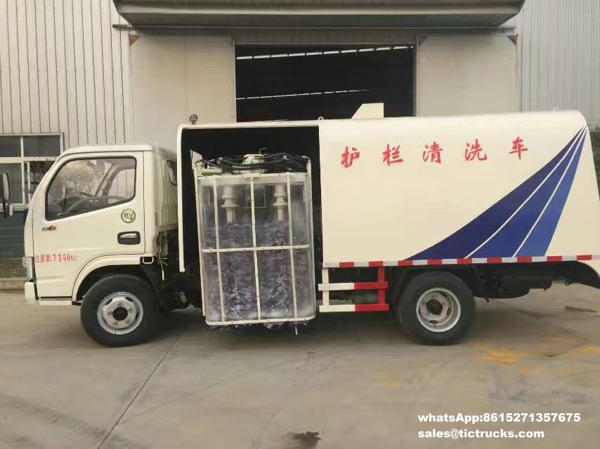 Camion de Cleanout de rambarde de route, véhicule de nettoyage de rambarde, -water-cleaning_1.jpg