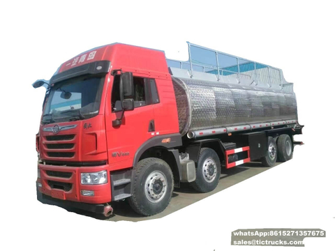 FAW stainless fuel tanker truck 28000L-33000L