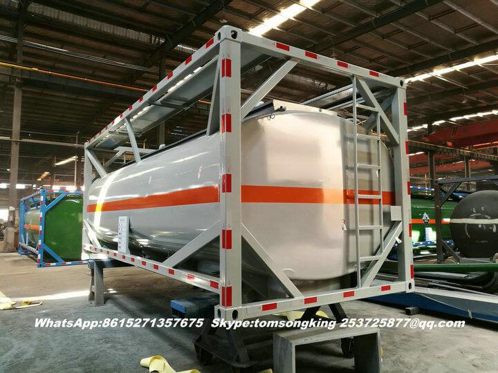 Steel lined PE ISO tank -022