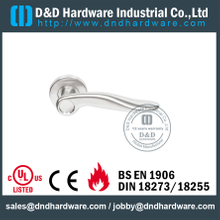 Stainless Steel Popular Antique Brass Internal Solid Lever Handle for Metal Doors -DDSH025
